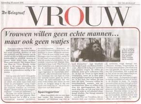 Lieke Lamb over Trends voor Echte Mannen in De Telegraaf